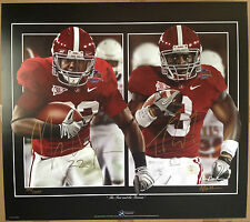 Mark Ingram & Trent Richardson Autographed Signed Art Print Alabama Gamble RARE