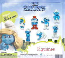 The Smurfs ~ Complete 7 pc figure set - carded vending display
