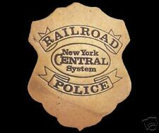 NEW YORK CENTRAL RAILROAD POLICE TRAIN BRASS BADGE
