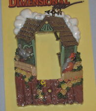 Hand-Painted Cottage Birdhouse Light Switch Cover Plate - Birds - New