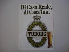 advertising Pubblicità 1980 BEER BIRRA TUBORG