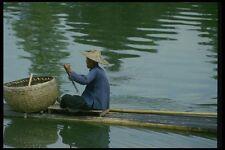 015020 Peasant On Bamboo Raft Xijiang River Guangxi A4 Photo Print