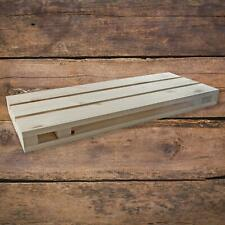 Solid Pine Pallet Shaped Wooden Wall Floating Unfinished Shelf 60 x 23 x 5 cm