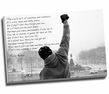 "Rocky Balboa Hope Qoute Motivational Canvas Print Wall Art 30x20"" A1"
