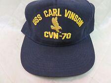 USS Carl Vinson CVN-70 Hat Navy Blue Adjustable Hat Military Collectible Cap
