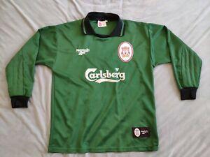 Liverpool Original 1996/1997 Goalkeeper Football Shirt Size 38/40 Medium