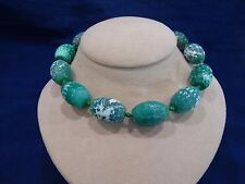 Jay King Sterling Silver Spiderwebb Stone Bead Necklace Signed