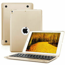 """9.7""""inch Folio Bluetooth Keyboard Case Cover  For iPad Pro 5/6th Air 2/1 Gold US"""