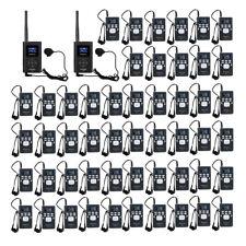 Drahtloses Reiseleitersystem 2*FM Sender+50*Empfänger+Mikrofone Kirche/Training