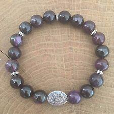 Natural Gemstone Yoga Reiki Cristal Couronne Chakra Bracelet Sugilite cadeau 18 cm 1