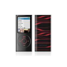 Silicone Case for iPod Nano 4G.Belkin laser- Black and Red-4th gen.F8Z379eaBKI.