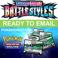50 Battle Styles Codes Pokemon TCG Online Booster PTCGO SWSH5 sent EMAIL /INGAME