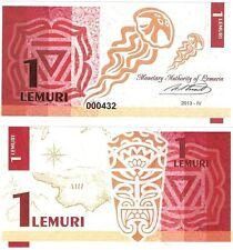 LEMURIA 1 LEMURI 2013 WHALE - UNC - Fantasy Banknote