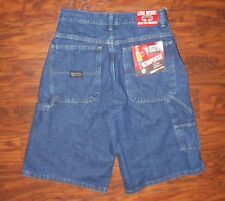 Wrangler Classic Carpenter Blue Denim Shorts Adjustable Waist 18 Reg. NWT