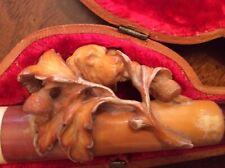 Antique Carved Meerschaum Pipe/ Cheroot Holder