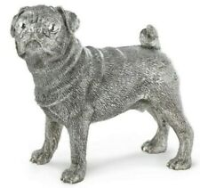 More details for hallmarked sterling silver pug model