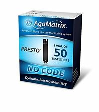 3 Pack AgaMatrix WaveSense Presto No Code 1 Vial of 50 Test Strips Each