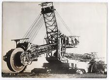 PHOTO ANCIENNE Keystone Pelleteuse Mécanique Géante 2500 Tonnes 1962 Travaux