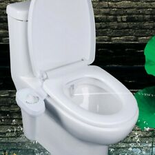 Home Toilet Seat Attach Bathroom Water Spray Non-Electric Bidet White