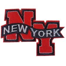 NEW YORK NY Red & Blue Iron On Patch Sew On Transfer badge Brand New
