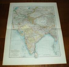 Zentralasien und Vorderindien: alte Landkarte (1900)