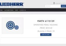 liebherr 6115139 Refrigerator Control Panel