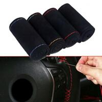 DIY Auto Car Steering Wheel Microfiber Suede Cover Hand 38cm Sewing Accessories