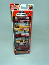 MATCHBOX-HERO-CITY-5 PACK SET--FIRE-VEHICLES--SEALED-C1882-2003