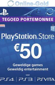 50 EUR PlayStation Network Card Sony PSN Gutschein Key nur für Niederlande [NL]
