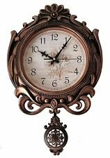 Wooden Finish Pendulum Analog Wall Clock Antique Design For Home Décor/Offices