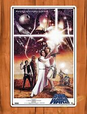 """TIN SIGN """"Star Wars Characters"""" Vintage Movie Art Poster"""