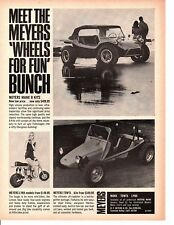 1969 MEYERS MANX - TOW'D DUNE BUGGY / LYNX MINI BIKE ~ ORIGINAL PRINT AD