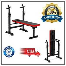 Home Gym Workout Adjustable Folding Weight Bench with Rack Adjustable