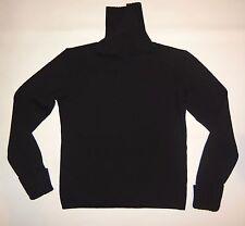 Women's S, Black, Slide Spilt Turtleneck Sweater by Morgano!