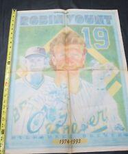 1993 MILWAUKEE BREWERS & ROBIN YOUNT BASEBALL NEWSPAPER