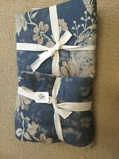 """New Pottery Barn Sage Embroidered Quilt Euro Pillow Sham Blue TieDye 26"""""""