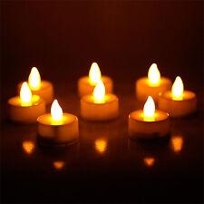 24pcs Warm Orange LED Tea Light Flameless Battery Candles Wedding Party Romantic