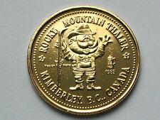 Kimberley BC CANADA 1983 Trade DOLLAR Token Gold-Plated Base Metal Rare Variety