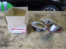 New Mazda Miata OEM '99-'00 Silver Fog Light Bezel Set with Brackets and Clips