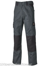 "Size 34"" REG Dickies Everyday 24-7 GREY BLACK Cargo Combat Mens Work Trousers"