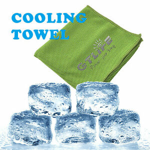 SUPER ICE COOLING TOWEL For Face Mask & Sports Running Yoga Gym Outdoor Fitness
