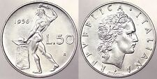 50 LIRE 1956 R REPUBBLICA ITALIANA ITALY Q.Fdc/Fdc #3243