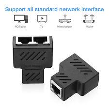 RJ45 Splitter Adapter CAT5/6/7 Ethernet Cable LAN Port 1 to 2 Socket Connector