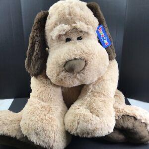 "36"" Toys R Us JUMBO GIANT Puppy Dog Plush HUGE Furry Soft Floppy Ears Tan Brown"