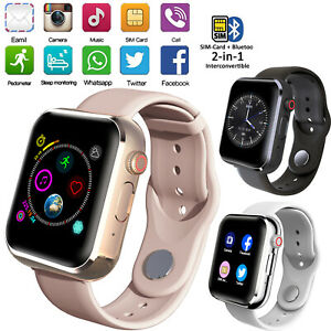 Unlocked Slim Bluetooth Smart Watch Touch Screen For LG Samsung S20 S10 Huawei