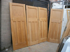 More details for reclaimed 1930s one over three panel stripped pine doors.