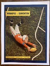 1961 Winnipeg vs Edmondton Canadian Football League/JOHNNY BRIGHT/HERB GRAY!!