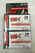 NEW  RCA VHS-C STANDARD TC30PK2 Camcorder Tape Two Pack 30 Min