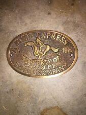 Pony Express Company Sign Solid Metal Plaque Brass Finish Doc Holiday Wild West