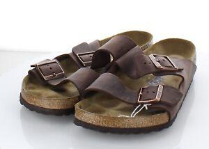 I51 $135 Men's Sz 43 M Birkenstock Arizona Oiled Leather Soft Footbed Sandal